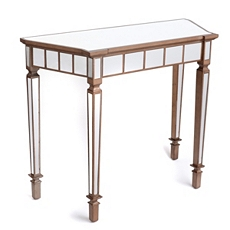 Lennox Mirrored Bronze Console Table at Kirkland's