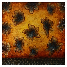 Amber & Sapphire Flowers Canvas Art Print at Kirkland's