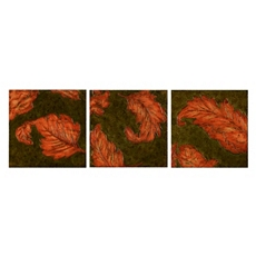 Orange Leaves Canvas Art Print, Set of 3 at Kirkland's