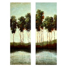 Overcast on the River Wall Art, Set of 2 at Kirkland's