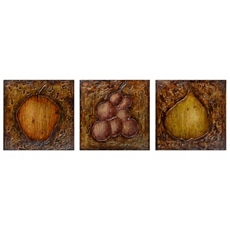 Fresh Fruits Wall Plaque, Set of 3 at Kirkland's