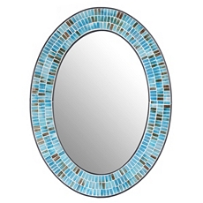 Azul Mosaic Oval Wall Mirror, 24x32 at Kirkland's