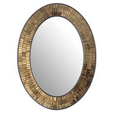 Gold Mosaic Oval Wall Mirror, 24x32 at Kirkland's