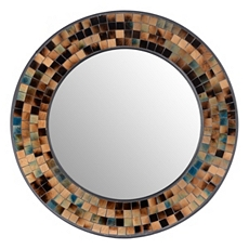 Tortoise Mosaic Wall Mirror, 24 in. at Kirkland's