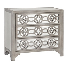 Libby Silver Mirrored 3-Drawer Chest at Kirkland's