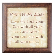Matthew 22:37 Wall Plaque at Kirkland's