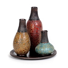 Bronze Top Ceramic Vase, Set of 3 at Kirkland's