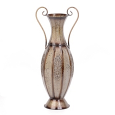 Pewter Urn Embossed Metal Floor Vase at Kirkland's