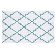 Blue & White Lattice Bath Mat at Kirkland's