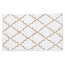 Tan & White Lattice Bath Mat at Kirkland's