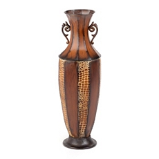 Embossed Crocodile Metal Floor Vase at Kirkland's