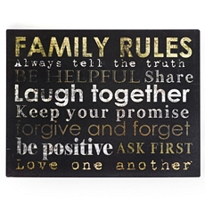 Family Rules Tin Wall Plaque at Kirkland's