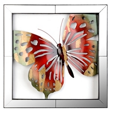 Mirror Framed Butterfly Metal Wall Art at Kirkland's