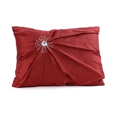 Red Diamond Burst Silk Pillow at Kirkland's