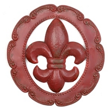 Fleur-de-Lis Metal Wall Plaque at Kirkland's