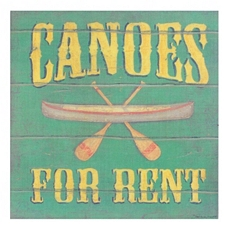 Canoes For Rent Canvas Art Print at Kirkland's