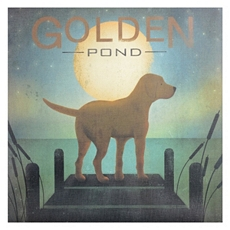 Golden Pond Yellow Dog Canvas Art Print at Kirkland's