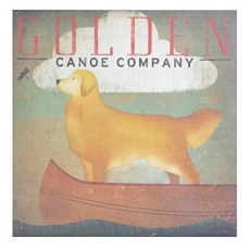 Golden Canoe Canvas Art Print at Kirkland's