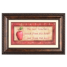 Best Teachers Framed Wall Plaque at Kirkland's