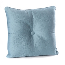 Blue Embossed Scroll Pillow at Kirkland's