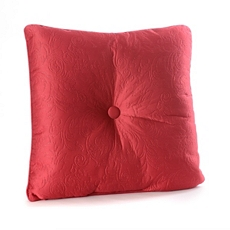 Red Embossed Scroll Pillow at Kirkland's