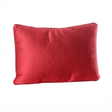Red Embossed Scroll Oblong Pillow at Kirkland's