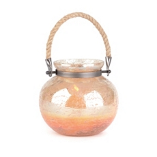 Gold Foil Glass Lantern, 7 in. at Kirkland's