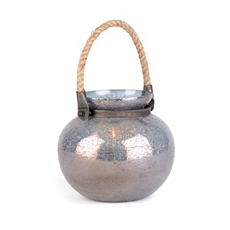 Gray Foil Glass Lantern, 7 in. at Kirkland's