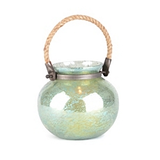 Green Foil Glass Lantern, 7 in. at Kirkland's
