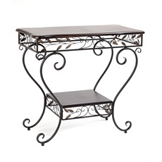 Bronze Leaf 2-Tier Console Table at Kirkland's