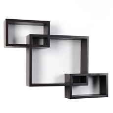Espresso Wood Interlocking Shelf, Set of 3 at Kirkland's
