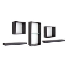 Espresso Cube Shelf, Set of 5 at Kirkland's