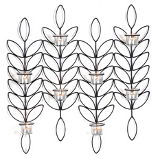 Metal Leaf Tealight Sconce at Kirkland's