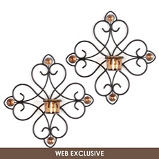 Amber Scroll Tealight Sconce, Set of 2 at Kirkland's