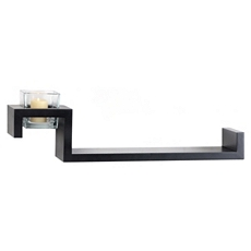 Black Ledge with Votive Holder, 21 in. at Kirkland's