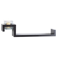 Espresso Ledge with Votive Holder, 21 in. at Kirkland's