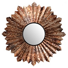 Pleated Metal Wall Mirror at Kirkland's