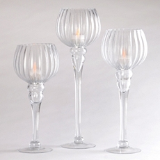 Clear Fluted Glass Charisma, Set of 3 at Kirkland's