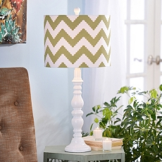 Green Chevron Table Lamp at Kirkland's