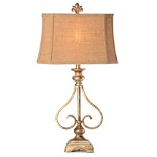 Antique Metal Scroll Table Lamp at Kirkland's