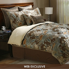 Rasmussen Mocha 8-pc. Queen Comforter Set at Kirkland's