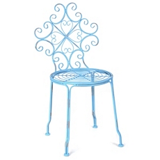 Corrina Blue Iron Side Chair at Kirkland's