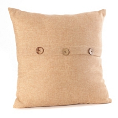 Tan Buttoned Linen Pillow at Kirkland's