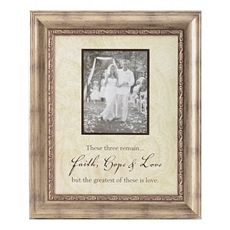 Faith, Hope & Love Wedding Photo Frame, 5x7 at Kirkland's