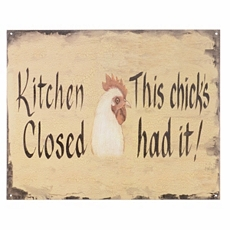 Kitchen Closed Wall Plaque at Kirkland's
