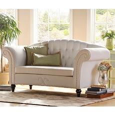 Olivia Eggshell Loveseat at Kirkland's