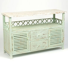 Bonnie Distressed Ivory Wood Cabinet at Kirkland's