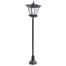Outdoor Black Solar Lamp at Kirkland's