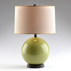 Green Glass Orb Table Lamp at Kirkland's