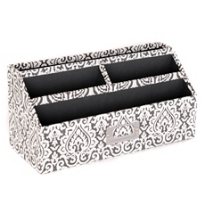 Black & White Damask Desk Organizer at Kirkland's